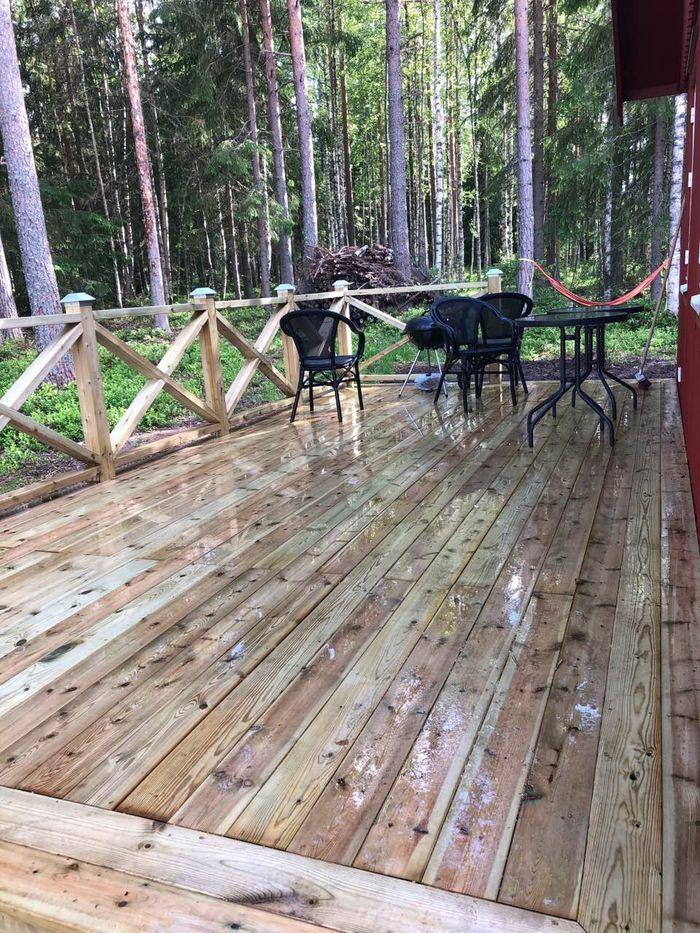 Private terrace at IGMA Lodge