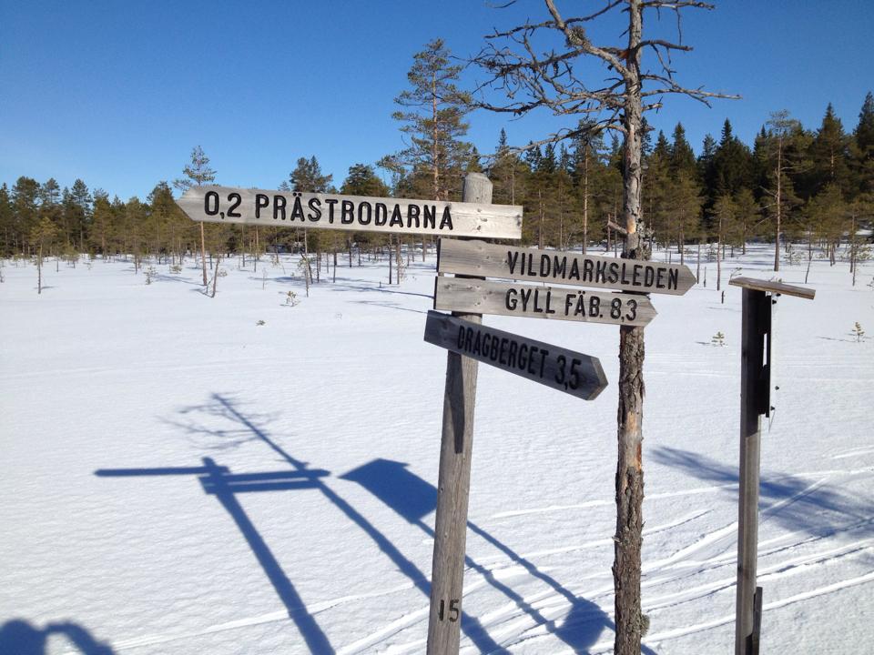 Geyllbergen naturreservat at winter.