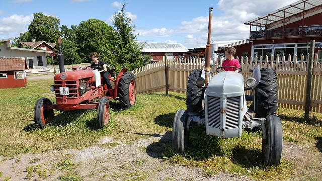 Playground with old tractors